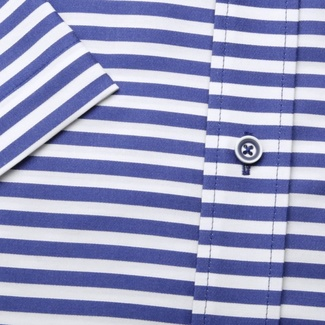 Men classic shirt (height 176-182) 6654 with strips a short sleeve
