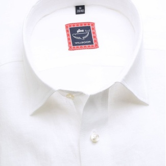 Men slim fit shirt (height 176-182) 6669 in white color
