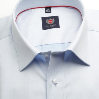 Men slim fit shirt London (height 188-194) 6688 in light blue color with formula Easy Care
