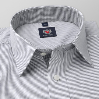 Men classic shirt London (height 176-182) 6732 in gray color with formula Easy Care
