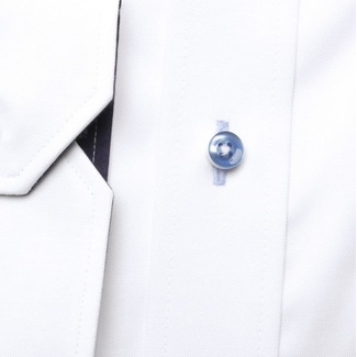 Men slim fit shirt London (height 176-182) 6785 in white color with formula Easy Care