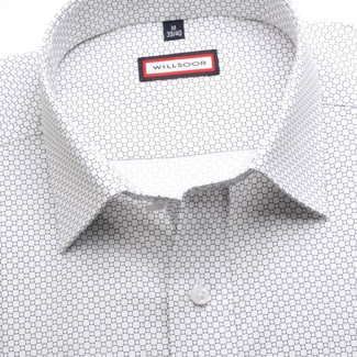 Men slim fit shirt (height 176-182) 6796 in white color with formula Easy Care