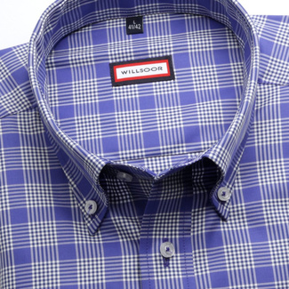 Men classic shirt (height 164-170) 6851 in blue color with formula Easy Care