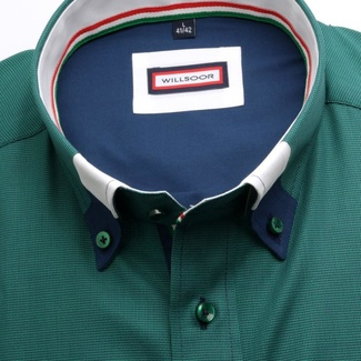 Men classic shirt (height 176-182) 6860 in green color