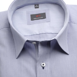 Men classic shirt (height 176-182) 6941 in gray color with formula Easy Care