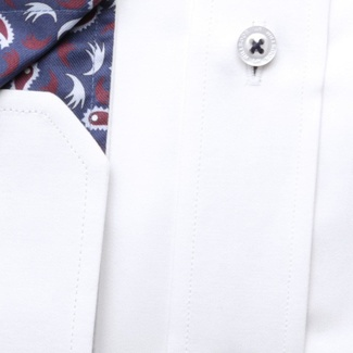 Men classic shirt London (height 176-182) 6957 in white color with formula Easy Care