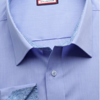 Men classic shirt (height 188-194) 6971 in blue color with formula Easy Care