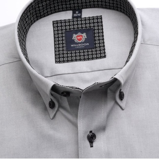 Men slim fit shirt London (height 176-182) 6995 in gray color with formula Easy Care