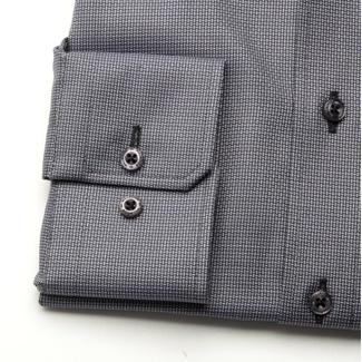 Men slim fit shirt London (height 176-182) 6998 in graphite color with formula Easy Care