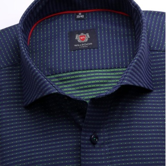 Men slim fit shirt London (height 176-182) 6999 in blue color with formula Easy Care