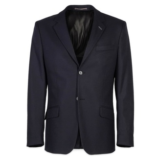 Men suit jacket Willsoor (height 176-182) 7082 in dark blue color, Willsoor