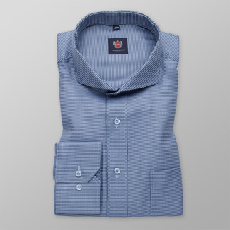 Men classic shirt London (height 176-182) 7139 with in blue color with formula Easy Care
