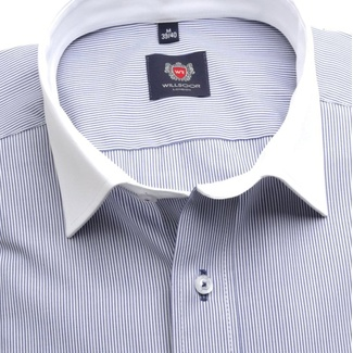 Men slim fit shirt London (height 176-182) 7140 with strip a formula Easy Care