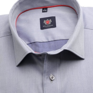 Men classic shirt London (height 176-182) 7143 in blue color with formula Easy Care