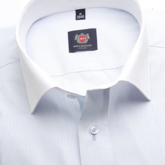 Men classic shirt London (height 188-194) 7264 in white color with formula Easy Care