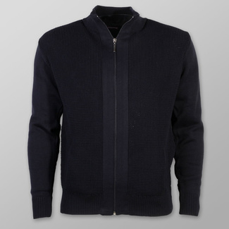 Men sweater Willsoor 7286 in dark blue color