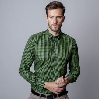 Men slim fit shirt (height 176-182) 7359 with checked