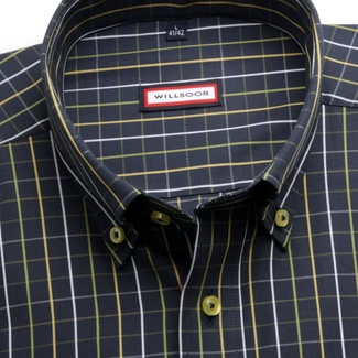 Men classic shirt (height 176-182) 7363 in blue color