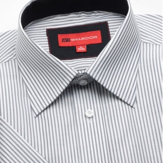 Men slim fit shirt short sleeve (height 176/182) 742 with strips