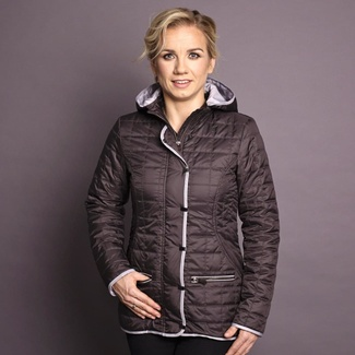 Women jacket Willsoor 7430 in anthracite color, Willsoor