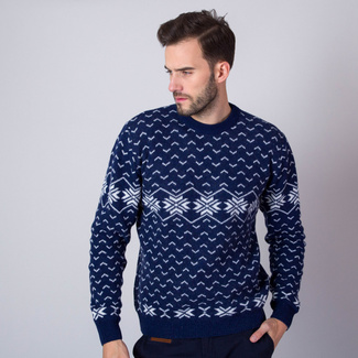 Men sweater Willsoor 7434 in dark blue color