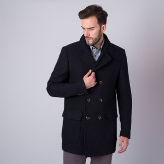 Men coat Willsoor (height 176-182 I 188-194) 7436 in black color, Willsoor