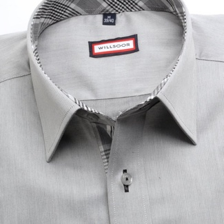 Men classic shirt (height 176-182) 7439 in gray color