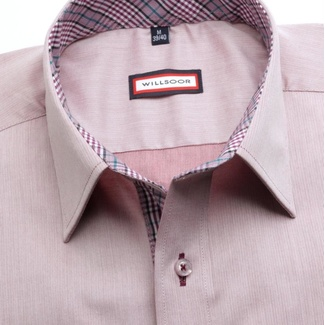 Men classic shirt (height 176-182) 7449 in violet color