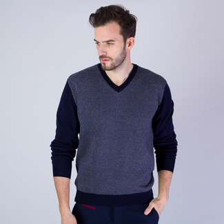 Men sweater Willsoor 7519 in gray - blue color
