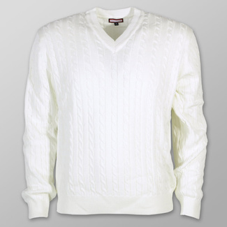 Men sweater Willsoor 7520 in color ecru