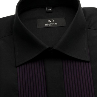 Men tuxedo shirt Fine Selection (height 176-182) 7524 in black color