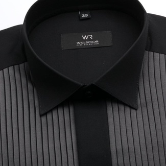 Men tuxedo shirt Fine Selection (height 176-182 I 188-194) 7526 in black color
