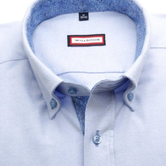Men fit slim shirt (height 188-194) 7530 in blue color
