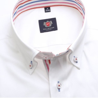 Men slim fit shirt London (height 176-182) 7579 in white color