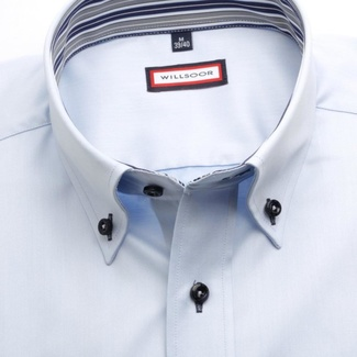Men classic shirt (height 176-182) 7590 in light blue color with adjusting