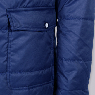 Men quilted jacket (height 176-182 to 5XL) 7595 in dark blue color