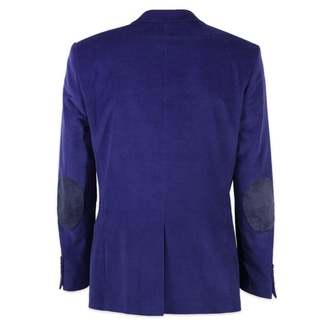 Men classic suit jacket Willsoor (height 176-182) 7618 in blue color, Willsoor