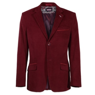 Men classic suit jacket Willsoor (height 176-182) 7620 in burgundy color, Willsoor