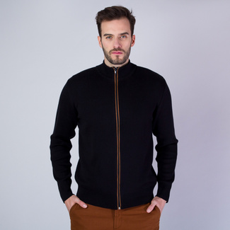 Men sweater Willsoor 7662 in black color
