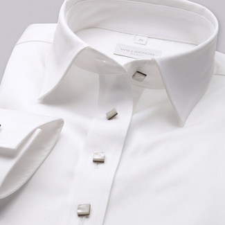 Women's shirt Willsoor 7682 in white color