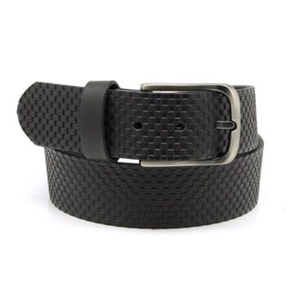 Men leather belt Willsoor 7742 in black color
