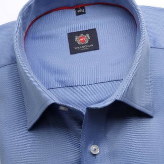 Men classic shirt London (height 176-182) 7761 in blue color with adjusting easy care