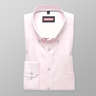 Men classic shirt (all height) 7793 in pink color with adjusting easy care