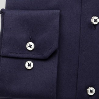 Men slim fit shirt (all height) 7796 in dark blue color with adjusting easy care