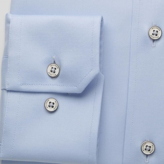 Men classic shirt (all height) 7799 in light blue color with adjusting easy care