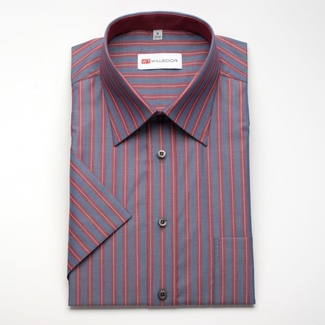 Men classic shirt with short sleeve (height 176-182) 779 with strips