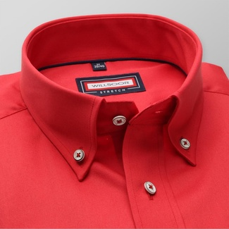 Men slim fit shirt (all height) 7800 in red color with adjusting easy care