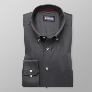 Men classic shirt (all height) 7803 in graphite color with adjusting easy care