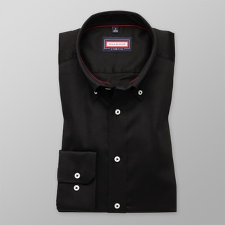 Men slim fit shirt (all height) 7804 in black color with adjusting easy care