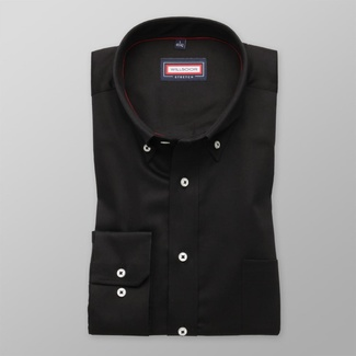 Men classic shirt (all height) 7805 in black color with adjusting easy care